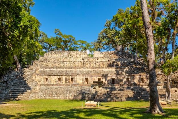 The astronomical pyramid of the temples of copan ruinas. honduras