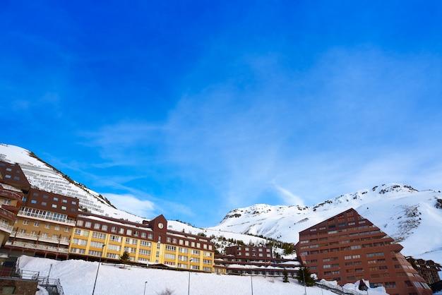 Astun ski area in huesca on pyrenees spain