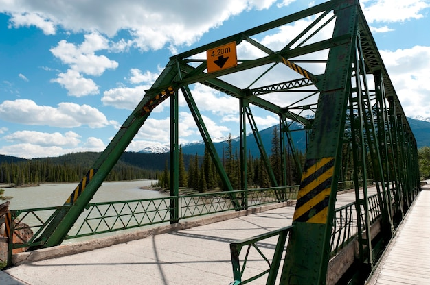 Athabasca river bridge, jasper national park, alberta, canada