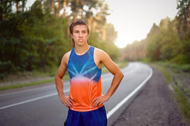 Athlete man outdoor