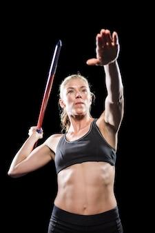 Athlete preparing to throw javelin