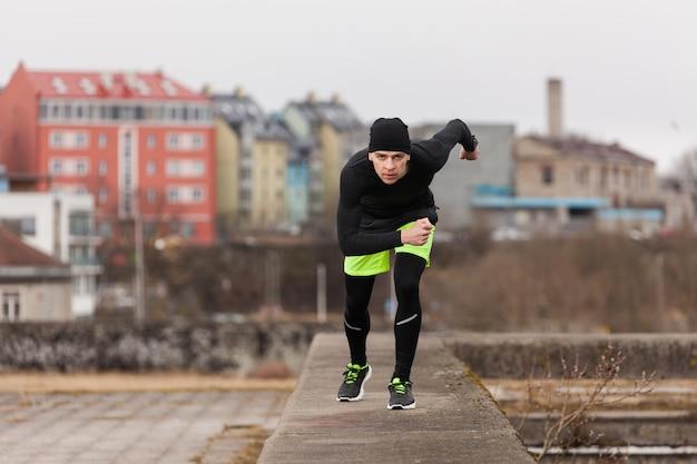 Athlete sprinting