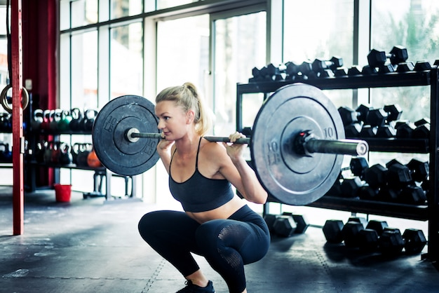 Athlete training in a cross-fit gym