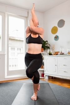 Athletic position sport at home concept