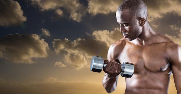 Спортивная защита черный образ жизни солнце