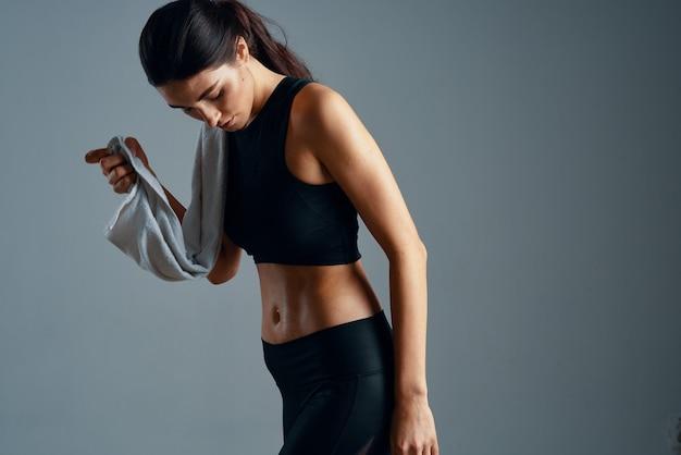 운동 슬림 여성 운동 동기 부여 체육관
