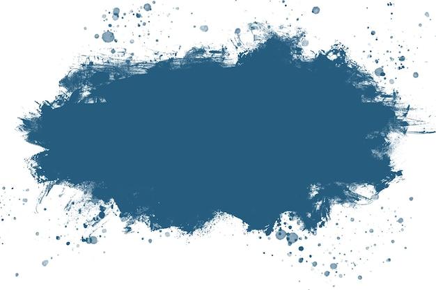 대서양 블루 추상 수채화 페인트 브러시, 얼룩 질감. 배경. 공간을 복사합니다.