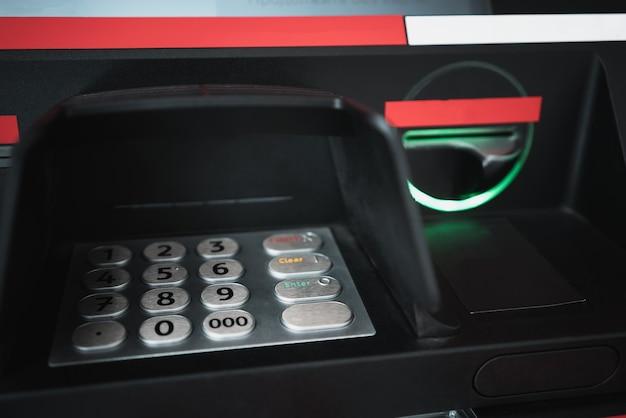 Банкомат клавиатура крупным планом безопасность