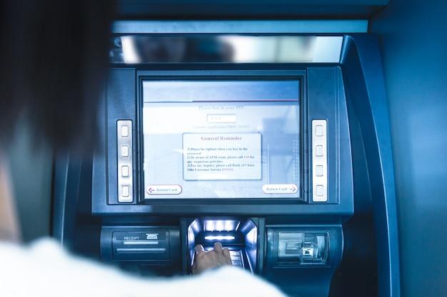 Atm operation at bank