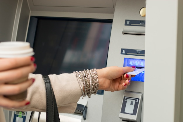 At the atm