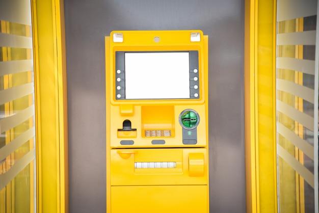 銀行のatm操作では、パスワードを入力します 無料写真