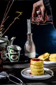朝食のチーズケーキの雰囲気の写真