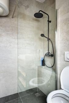 Attic apartment modern bathroom apartment interior design stylish italian granite ceramica