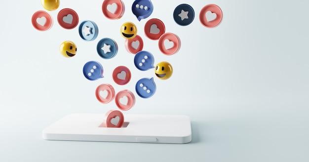 Привлечение значка социальных сетей с помощью магнита в смартфоне