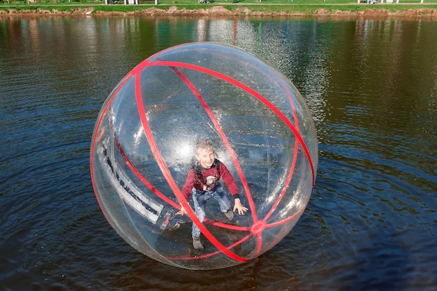 Attraction water, zorb,  boy in a bowl water. water attractions, rest
