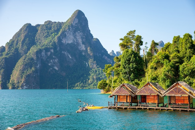 Attractions at ratchaprapha dam, guilin, thailand