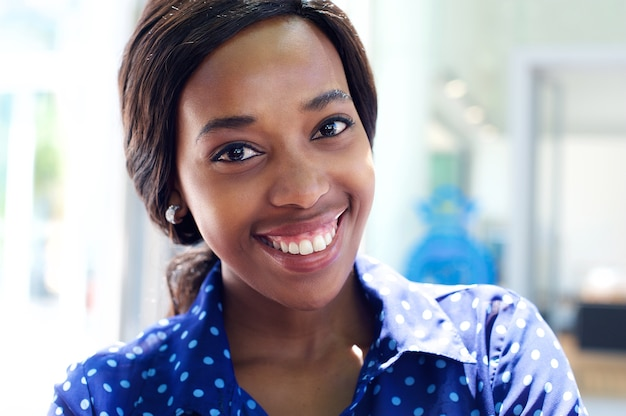 Attractive african business woman smiling