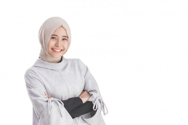 Attractive asian female young muslim woman