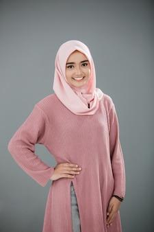 Attractive asian muslim woman