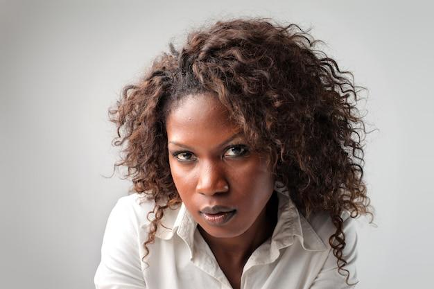 Attractive black businesswoman