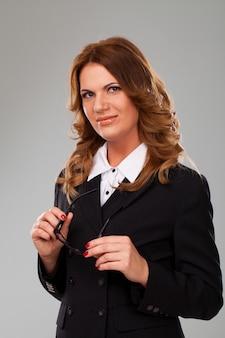 Attractive caucasian businesswoman