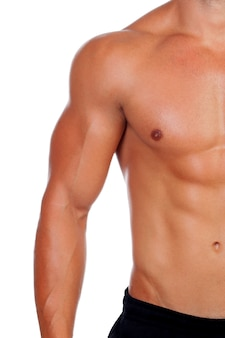 Attractive male body showing his muscles