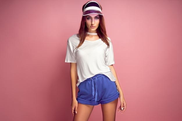 Attractive woman in sportswear