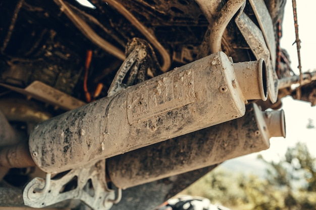 Atv quadバイク、詳細のクローズアップ
