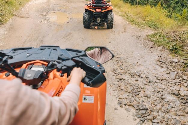 Atv ride extreme journey off road concept