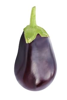 Aubergine or eggplant isolate on white background.
