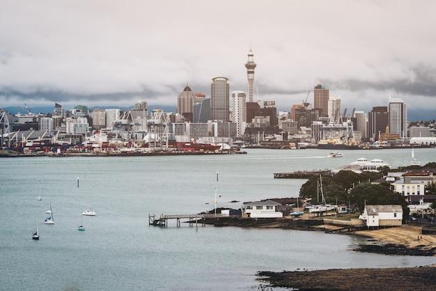 Городской пейзаж окленда, новая зеландия