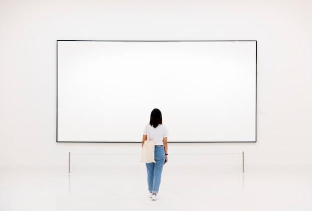 Audience enjoying art exhibition