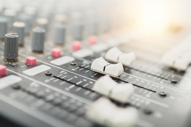 Audio adjustment button equipment to recording studio