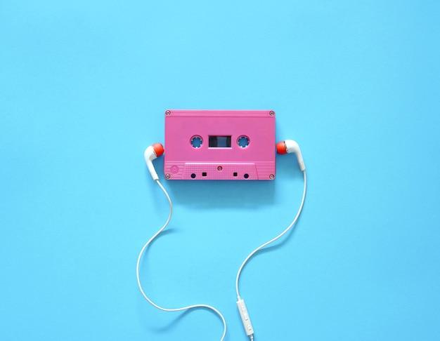 Audio cassette and earphones