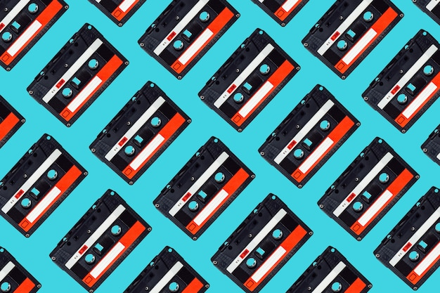 Audio cassette tape pattern.