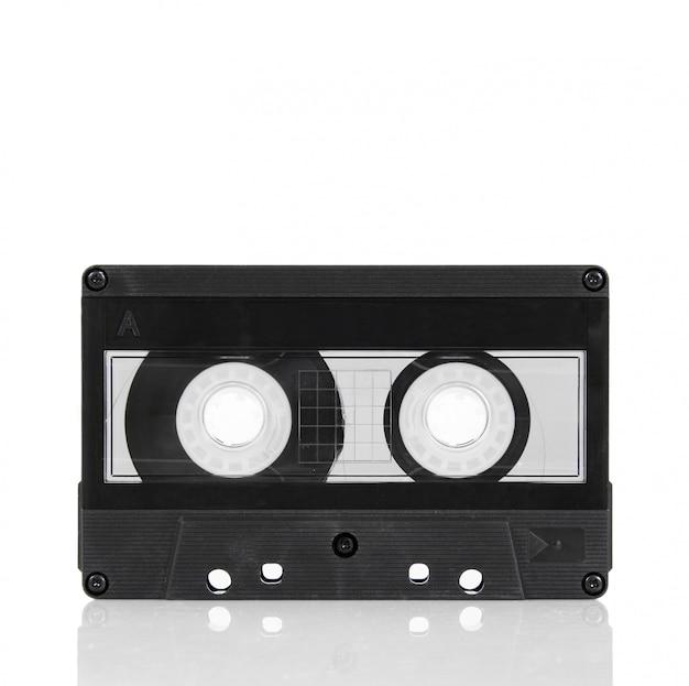 Audio cassette tape on white