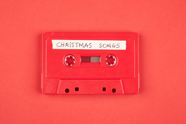 Audio cassette tape with christmas songs