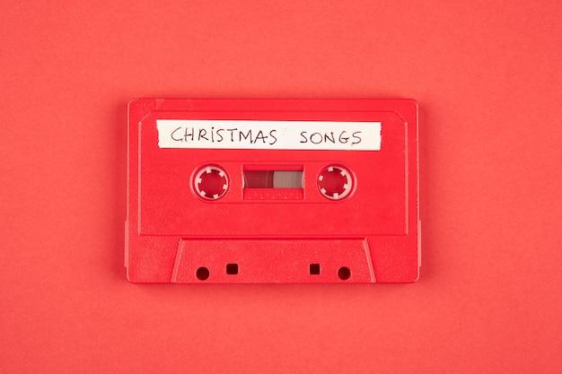 クリスマスソング付きオーディオカセットテープ