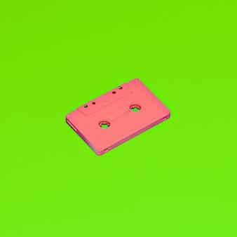 オーディオカセット。ヴィンテージミニマルスタイル