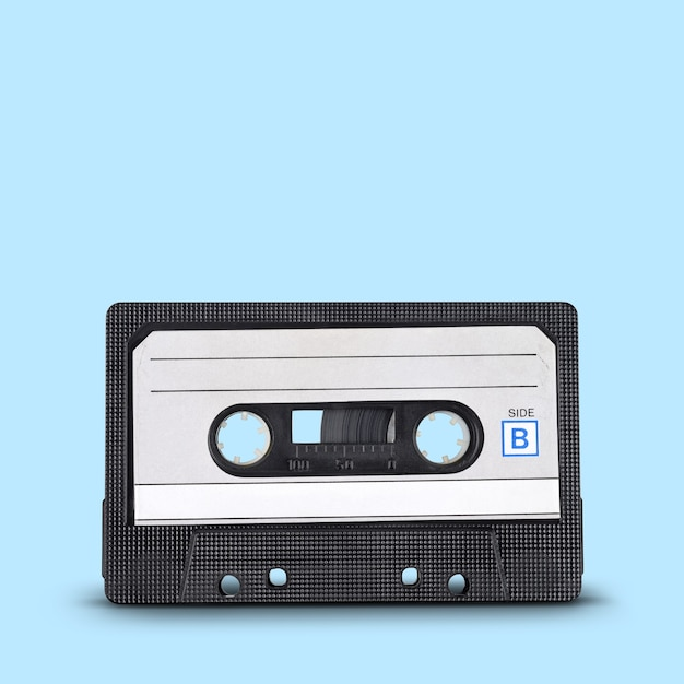 Audio record. old tape compact cassette