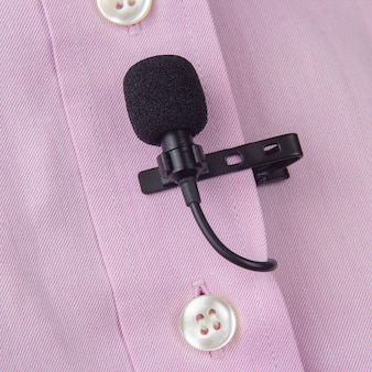 Audio recording of the sound of the voice on a condenser microphone