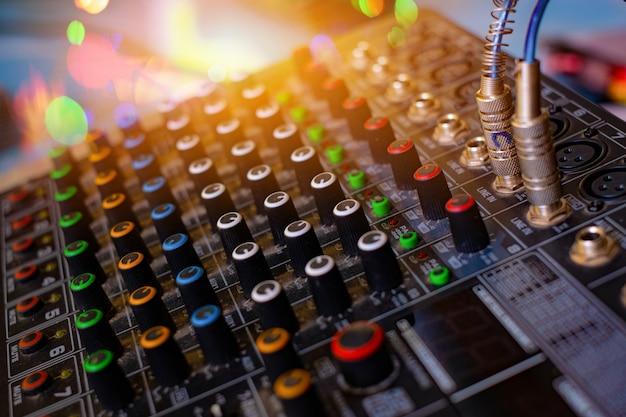 Audio sound mixer analog