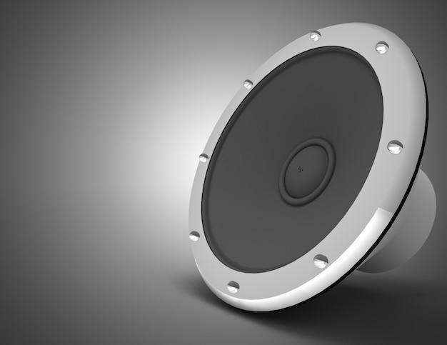 Audio speaker concept. 3d illustration
