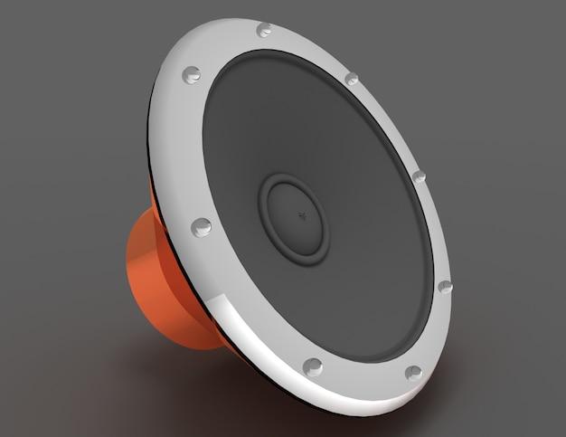 オーディオスピーカーのコンセプト。 3dレンダリングされたイラスト