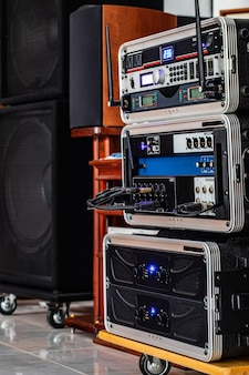 Audio system for meeting work.