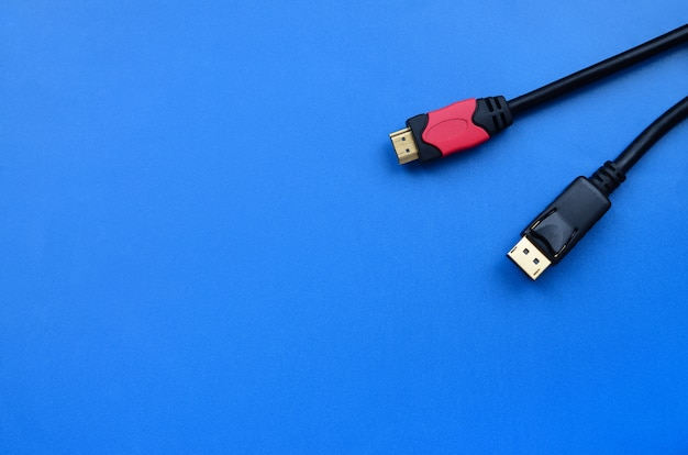 Audio video hdmi computer cable plug and 20-pin male displayport