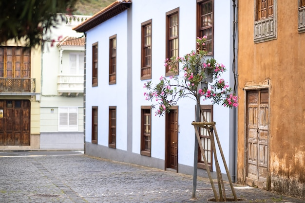 August 1, 2019. la laguna old town center in tenerife, canary islands, spain