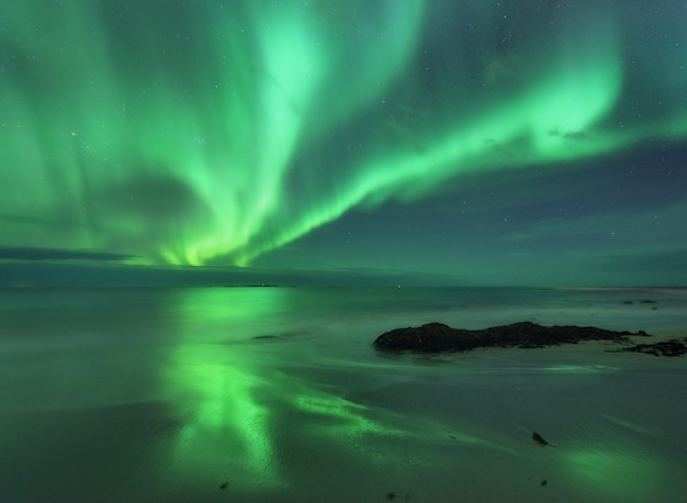 Aurora on the sea
