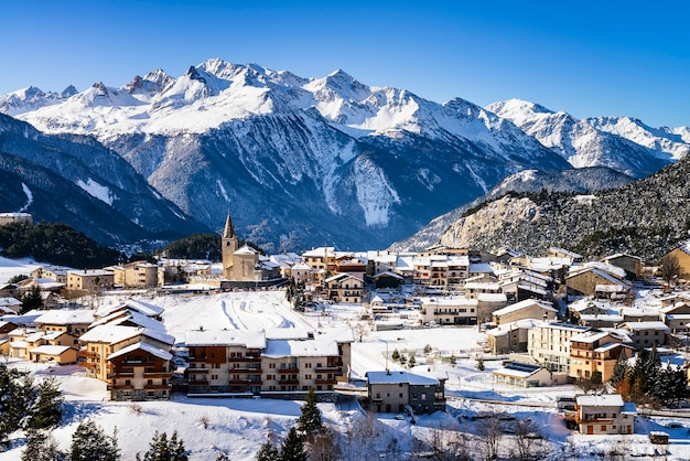 Aussois village in france