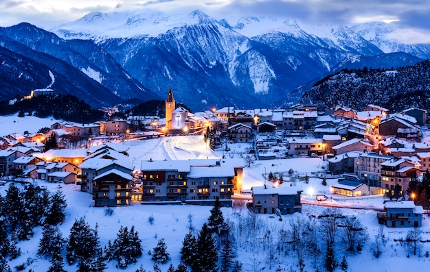 Aussois village france